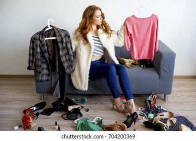 Girl can't decide what to wear