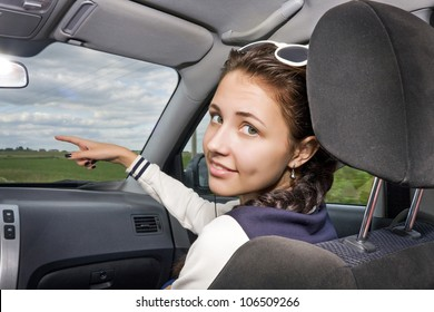 girl in a car
