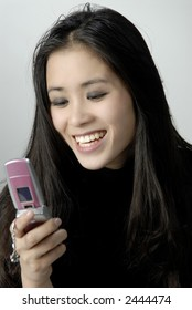 Girl with a cell phone