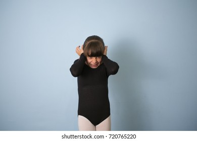 Girl child Closed his ears