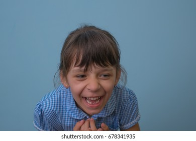 Girl child with laugh