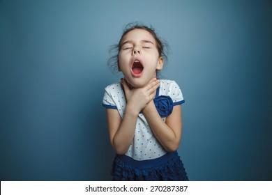 Girl Child Teen seven years, European appearance brunette