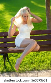 Girl chills in the park