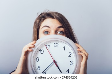 girl with the clock