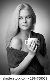 girl with a cup of tea