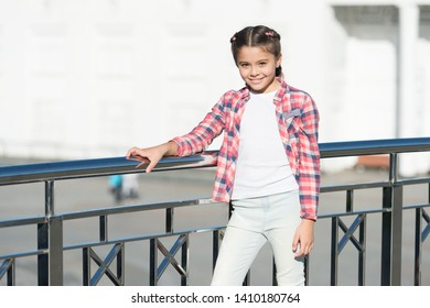 Girl cute kid urban background. Activities for teenagers. Vacation and leisure. Weekend events for kids. Leisure fun ideas. Event overview. What do on holidays. Leisure options. Free time and leisure.