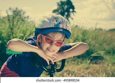 Girl cyclist.