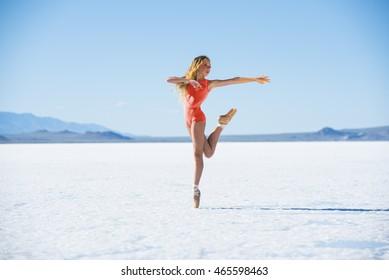 Girl Dancer Salt Flats