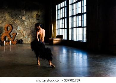 Girl dancing ballroom dance