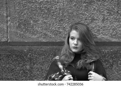 Girl depressed outside
