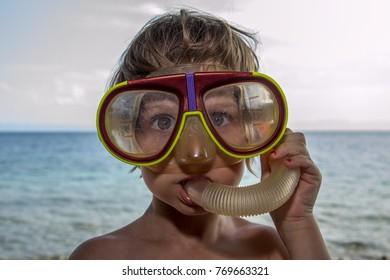 a girl as a diver