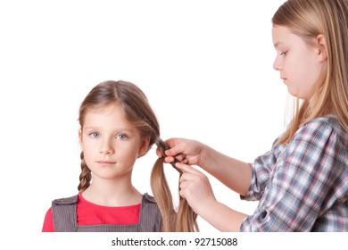 A girl do sisters long hair/sisters/hair