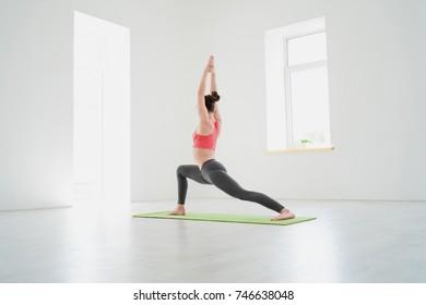 The girl do yoga