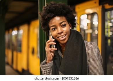 Girl doing a phone call