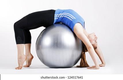 A girl doing pilates