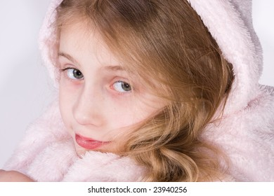 The girl in a double dressing gown