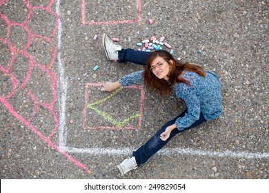 Girl Draws a House