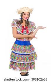 Girl dressed in traditional Brazilian Jerk.