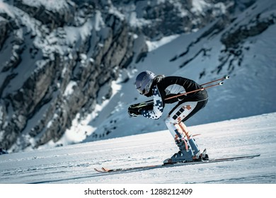 girl engaged in ski training