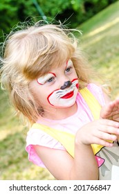girl with face painting image