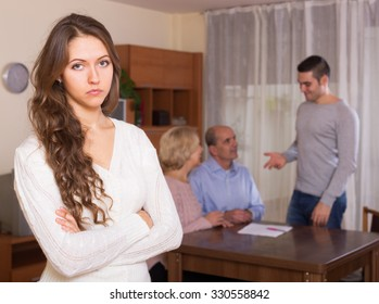 Girl faced with misunderstanding family