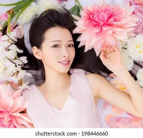 Girl in flower