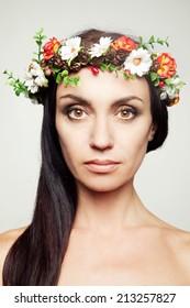 Girl in flower crown