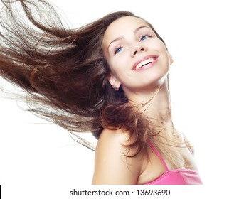 girl with fly-away hair