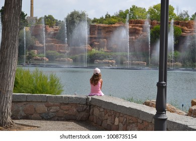 the girl at the fountains