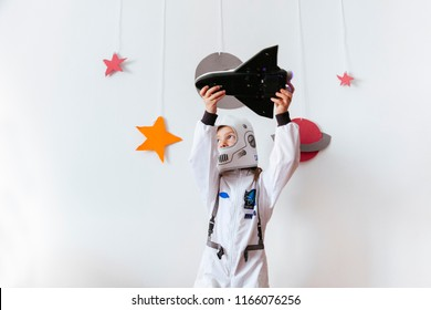 girl full of dreams flying a space ship