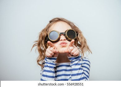 Girl with funny sunglasses