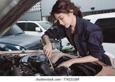 Girl in garage