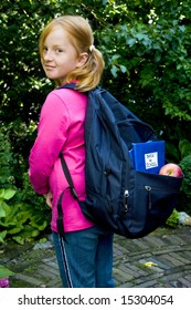 Girl is going back to school