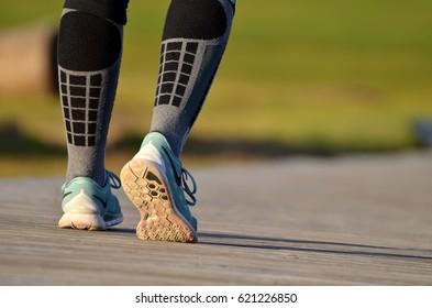 girl going to start running