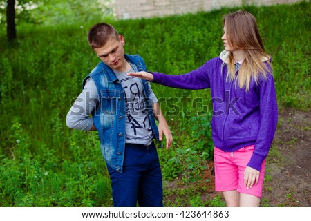 guy fighting a girl