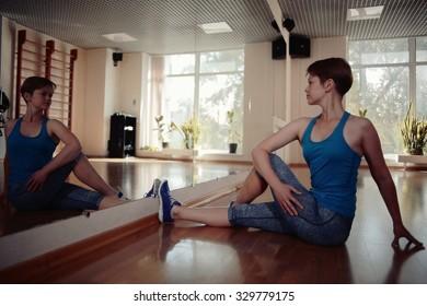 girl gym aerobics workout