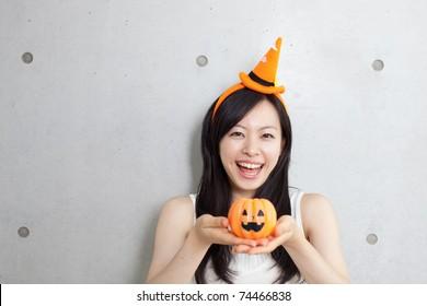 Girl at Halloween