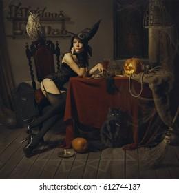 Girl in a Halloween costume