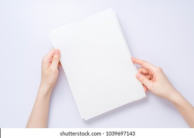 girl hands holding paper