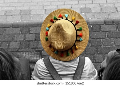Girl in a hat (black and white variation)