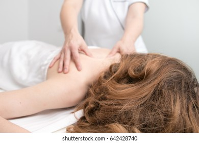 Girl having a massage