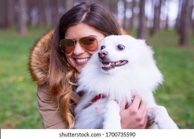 Girl with her lovely dog
