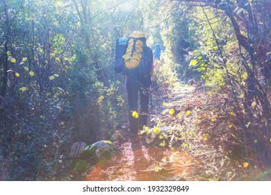 Girl  in hike in Lycian way, Turkey