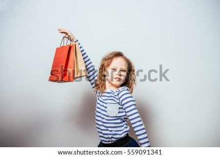 1485a6af2 Girl Holding Shopping Bags Baby Shop Stock Photo (Edit Now ...