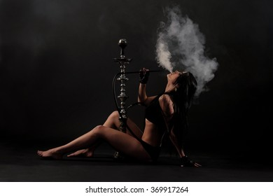 Girl with hookah