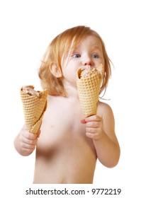 girl with ice-cream