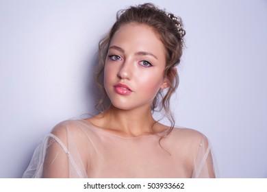 Girl Image Bride Wedding Makeup Hairstyle Stock Photo Edit Now