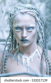 The girl in the image of Winter or Snow Queen