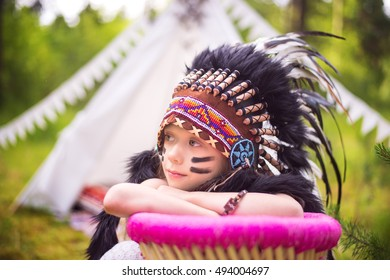 Girl Indian Costume Roach Wearing On Stock Photo Edit Now
