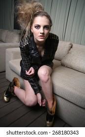 girl interior art fashion clothes